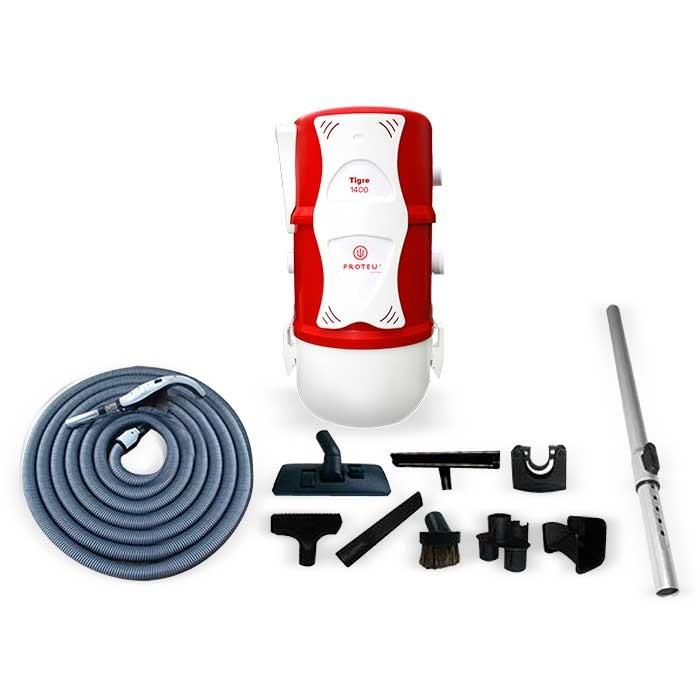 Proteu® Central Aspiraçao Tigre 1400 C/kit ON/FF+Silenciador