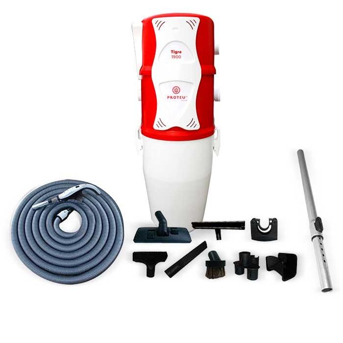 Proteu® Central Aspiraçao Tigre 1900 C/kit ON/FF+Silenciador