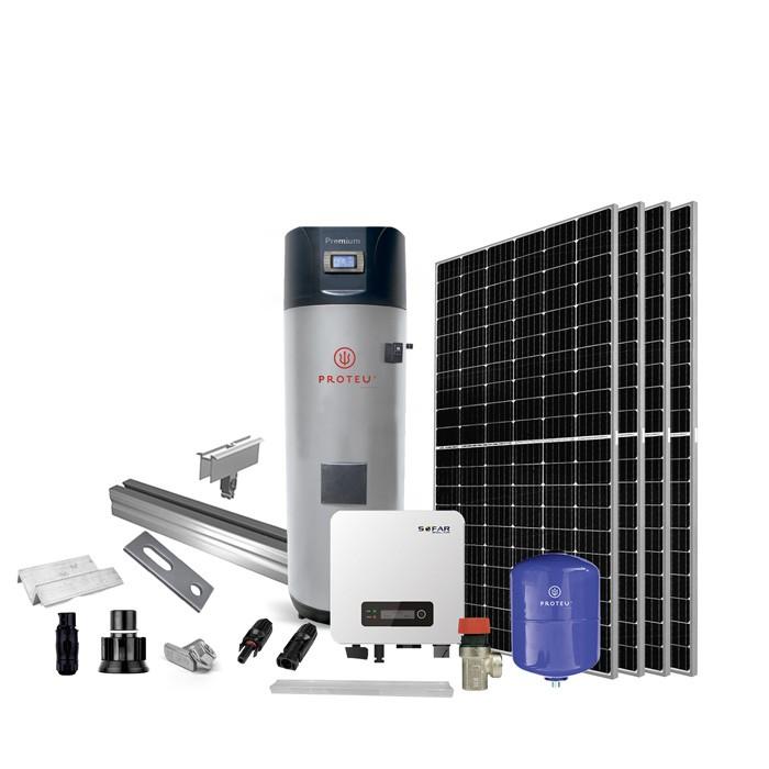 Proteu® Kit Fotovoltaico 6 Paineis C/Bomba de Calor 300 L