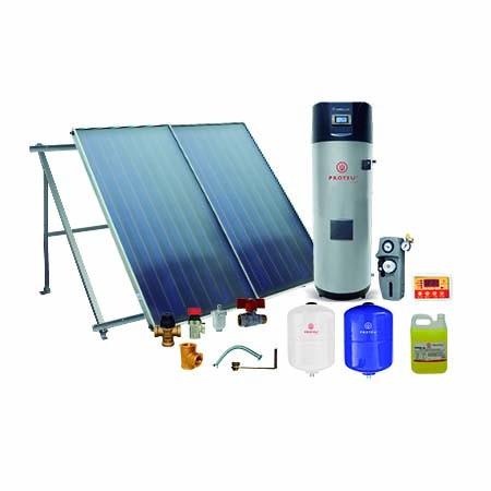 Proteu® Kit Solar Ártico C/Bomba Calor 500L 2 Painéis