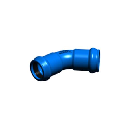 Curva Bocas PVC 45º