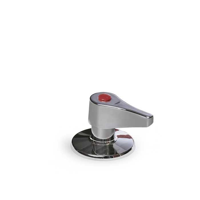 Heli® Press Espelho e Punho Cromado para Válvula de Corte