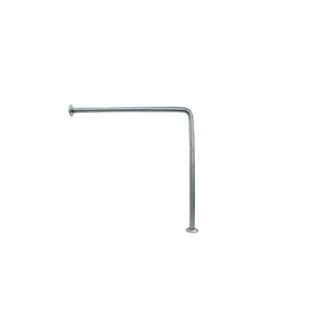 Barra Fixa Parede - Chão Aço Inox Satinado 70x70cm